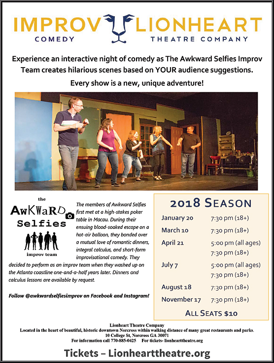 Awkward Selfies improv comedy at Lionheart Theatre