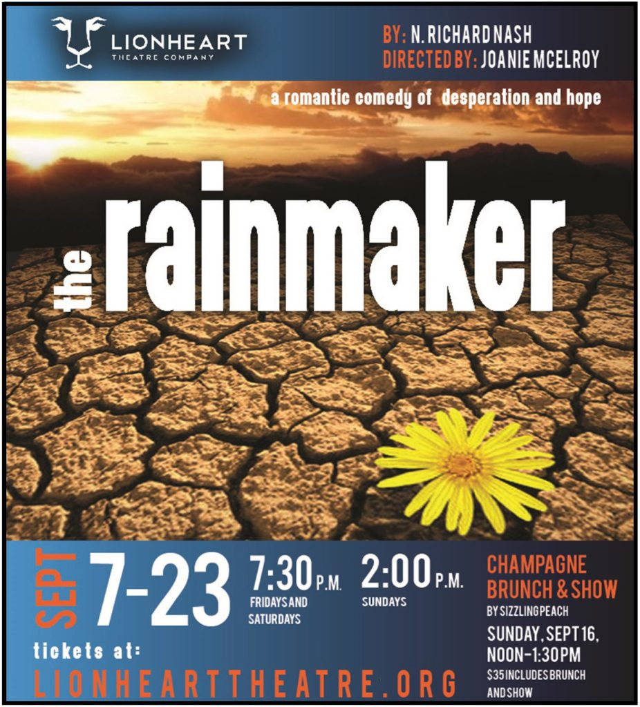 The Rainmaker at Lionheart Theatre, September 7-23