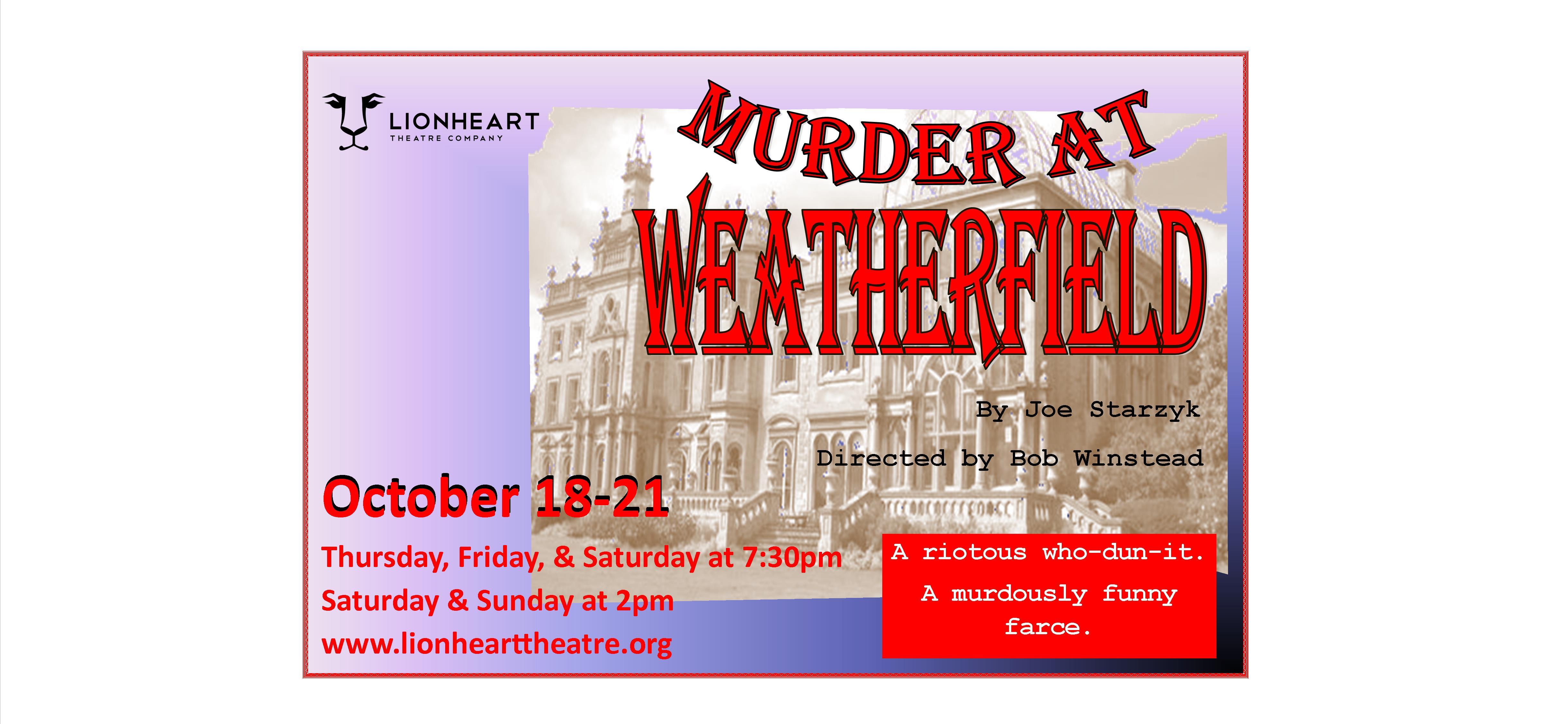 Lionheart Theatre's Murder at Weatherfield