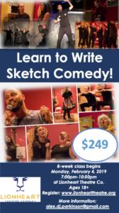 Lionheart Sketch Writing Class